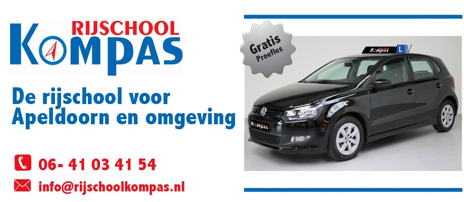 Rijschool Kompas. De rijschool voor Apeldoorn en omgeving.